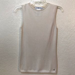 Christian Dior knit sweater tank top SZ 4